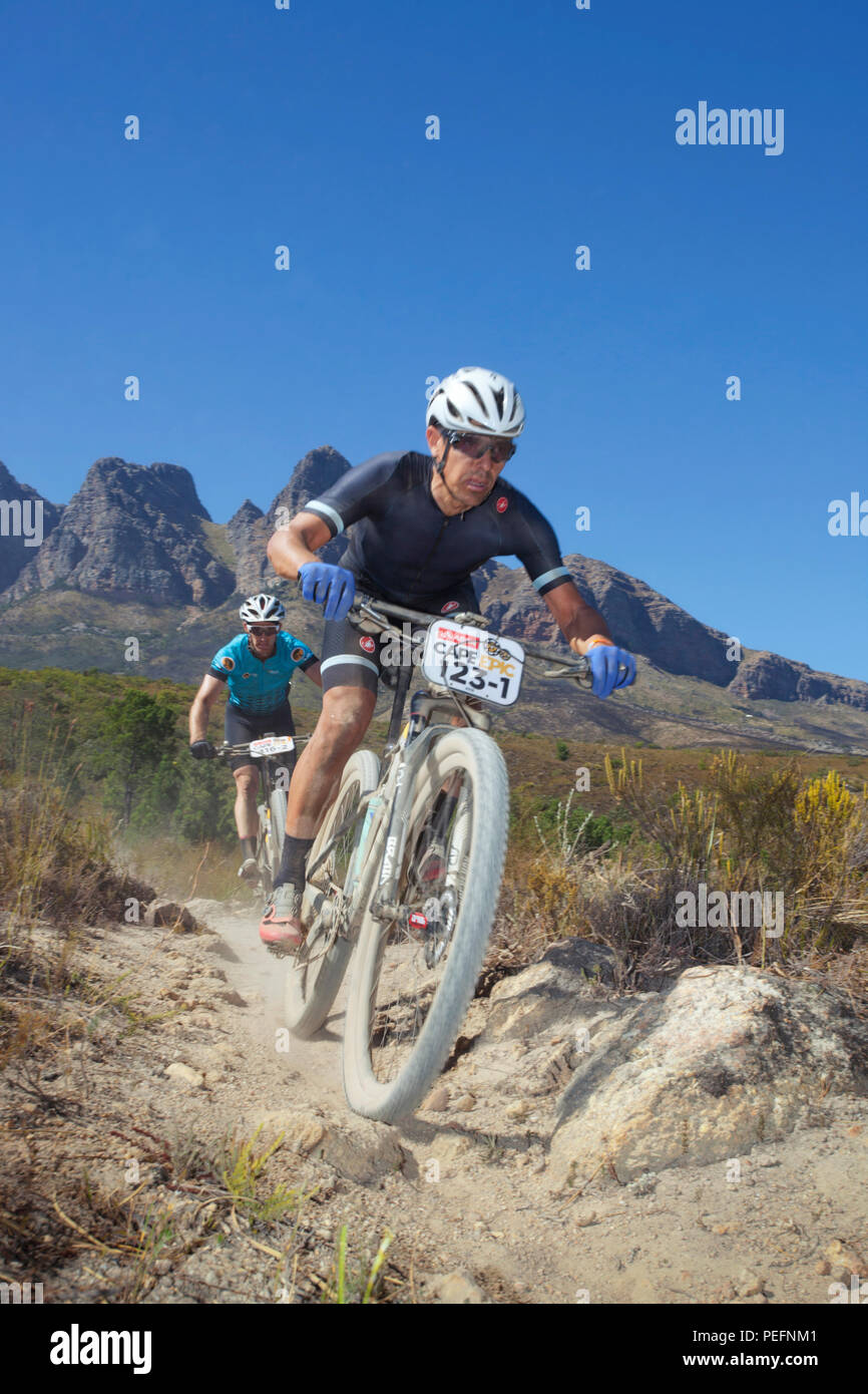Stage 5, ABSA Cape EPIC, Time Trial stage. Friday, March 23, 2018 - Stock Image