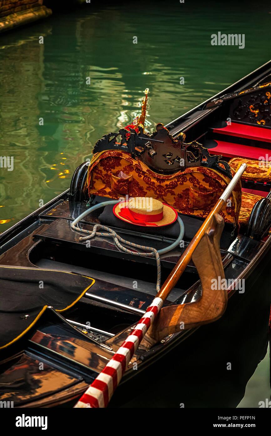 Parked gondola in Venice, Italy Stock Photo