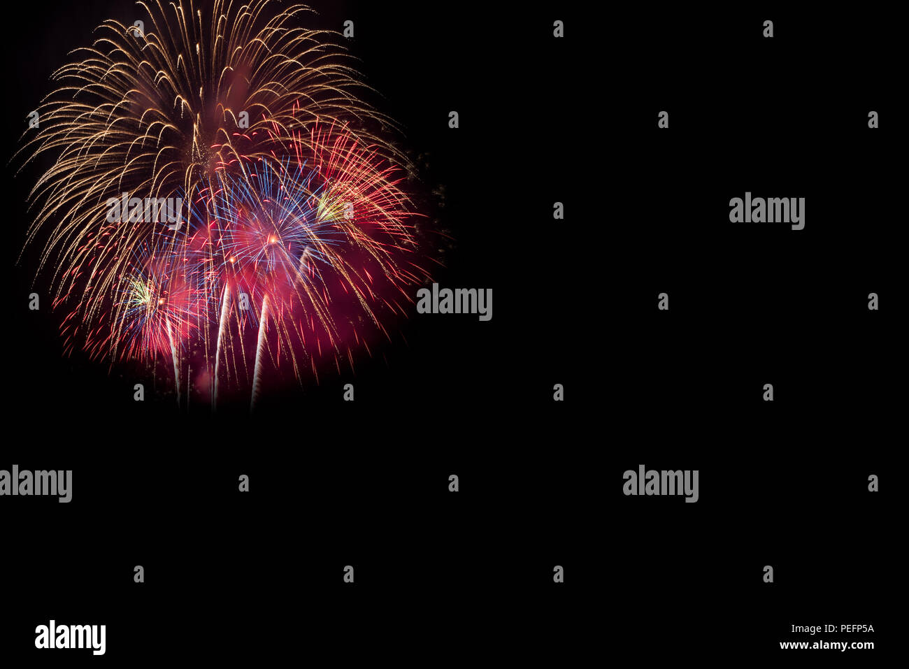 Rainbow Fireworks Celebration Colorful Abstract Image With: Abstract Beautiful Colorful Fireworks Display For