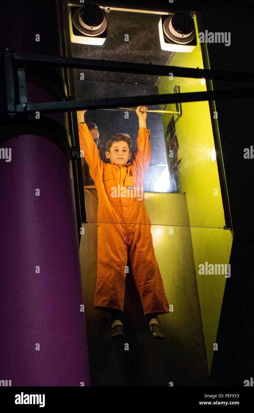 CANBERRA,ACT,AUSTRALIA: JULY 11, 2018. Questacon – The National Science and Technology Centre Canberra. Gravity fall slide giving kids a weightless fa Stock Photo