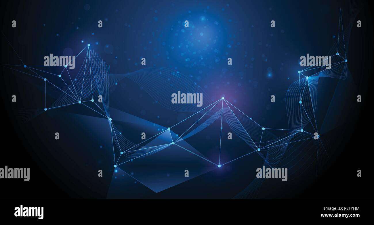 Abstract futuristic, Molecule technology with polygonal pattern with