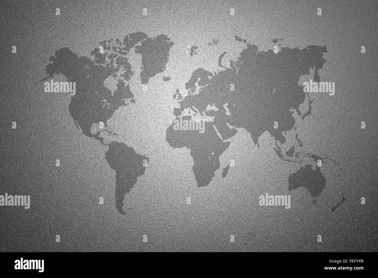 World map on gray frosted glass texture as background interior world map on gray frosted glass texture as background interior decoration design for windows or doors gumiabroncs Gallery