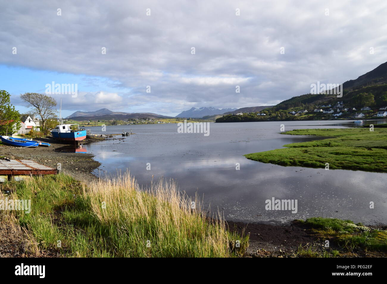 Portree, Skye, Scotland - Stock Image