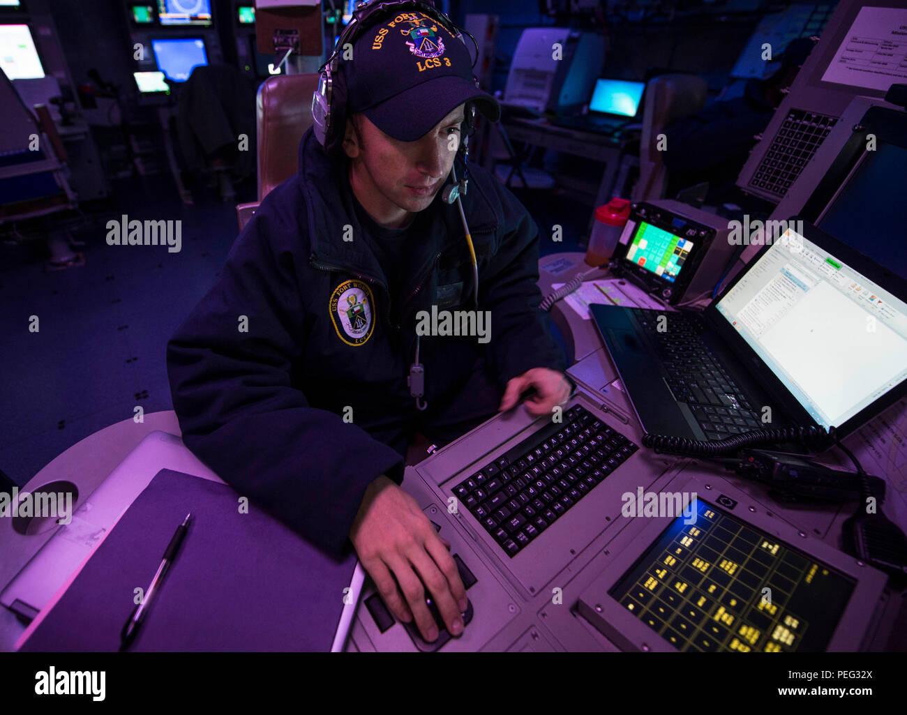 150820-N-MK881-091 SULU SEA (Aug  20, 2015) Lt  Eric Cote