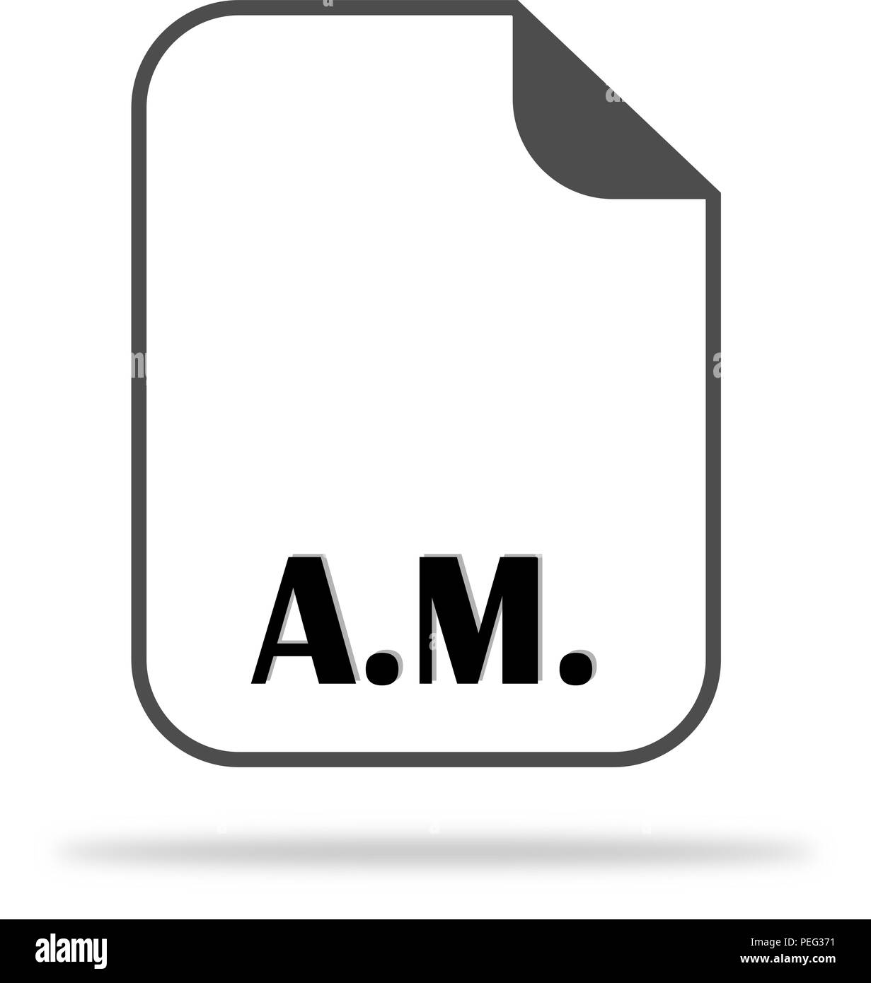 Abbreviation AM On The Document Icon