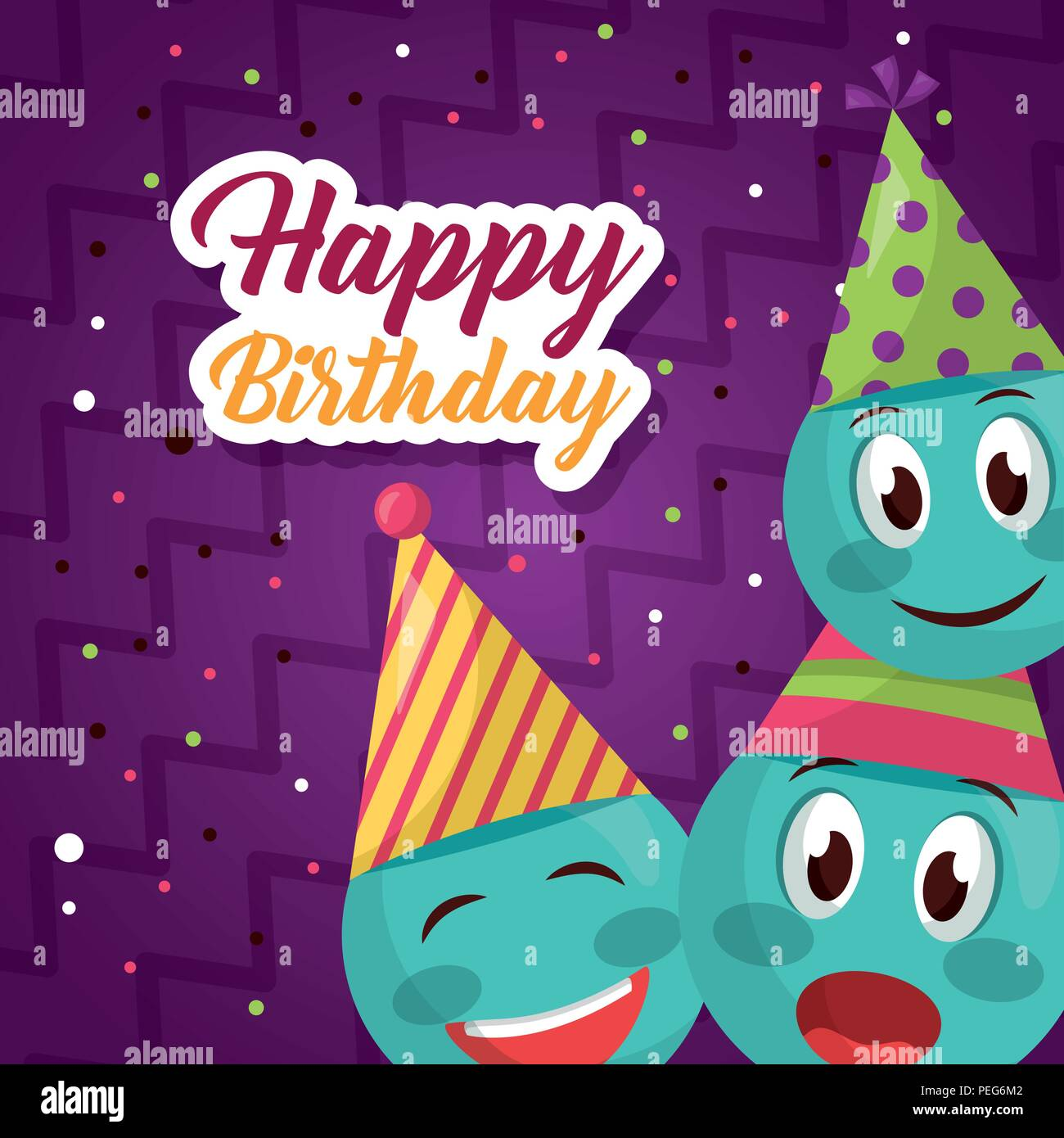 happy birthday card - Stock Image