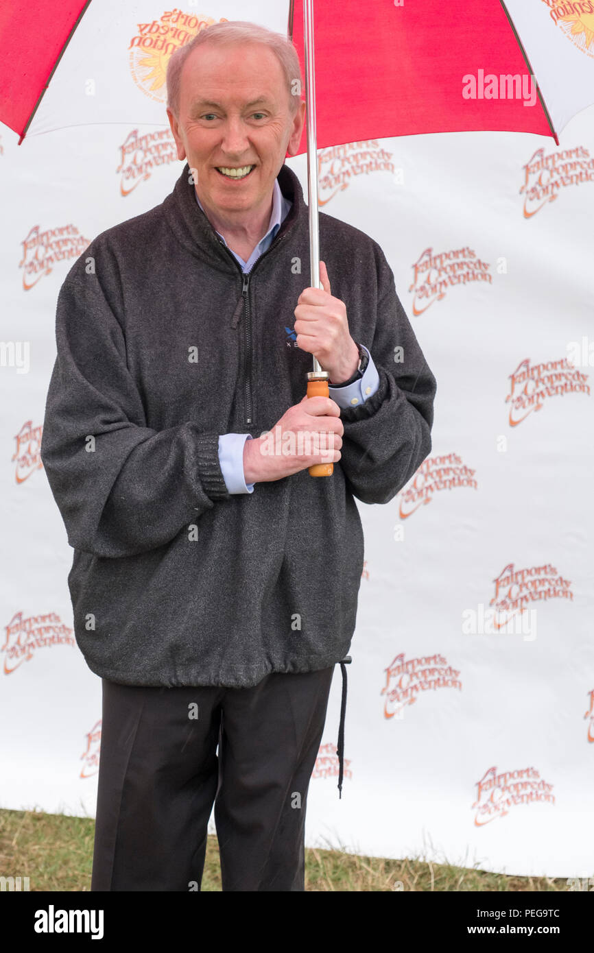 Al Stewart backstage at Fairport's Cropredy Convention, England, UK. August 11, 2018 - Stock Image