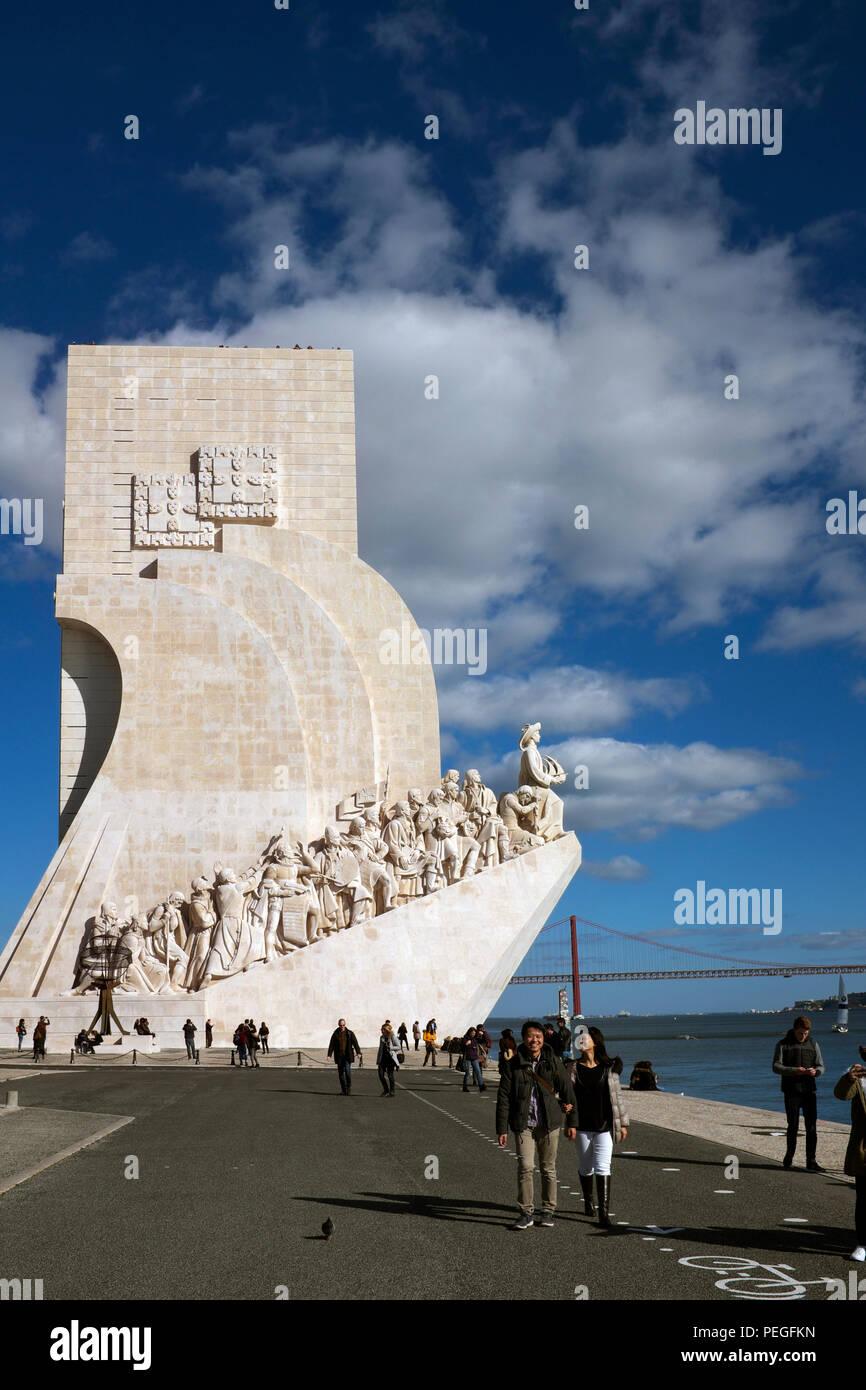 Monument to the Discoveries, Belém, Lisbon, Portugal Stock Photo
