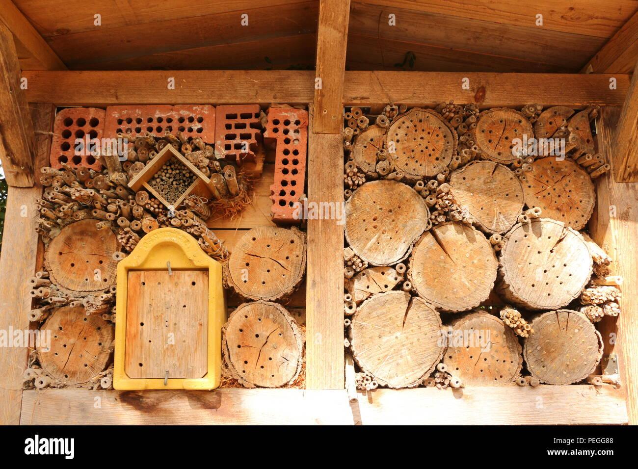 Insektenhotel im Hochsommer - Stock Image