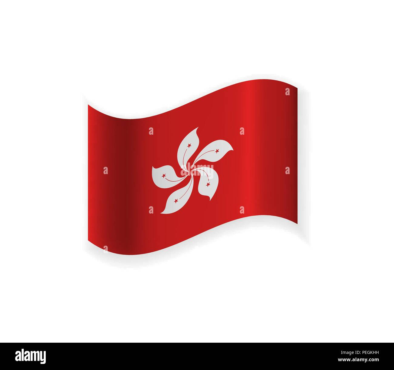 The Flag Of Hong Kong Egion Of China Vector Illustration National