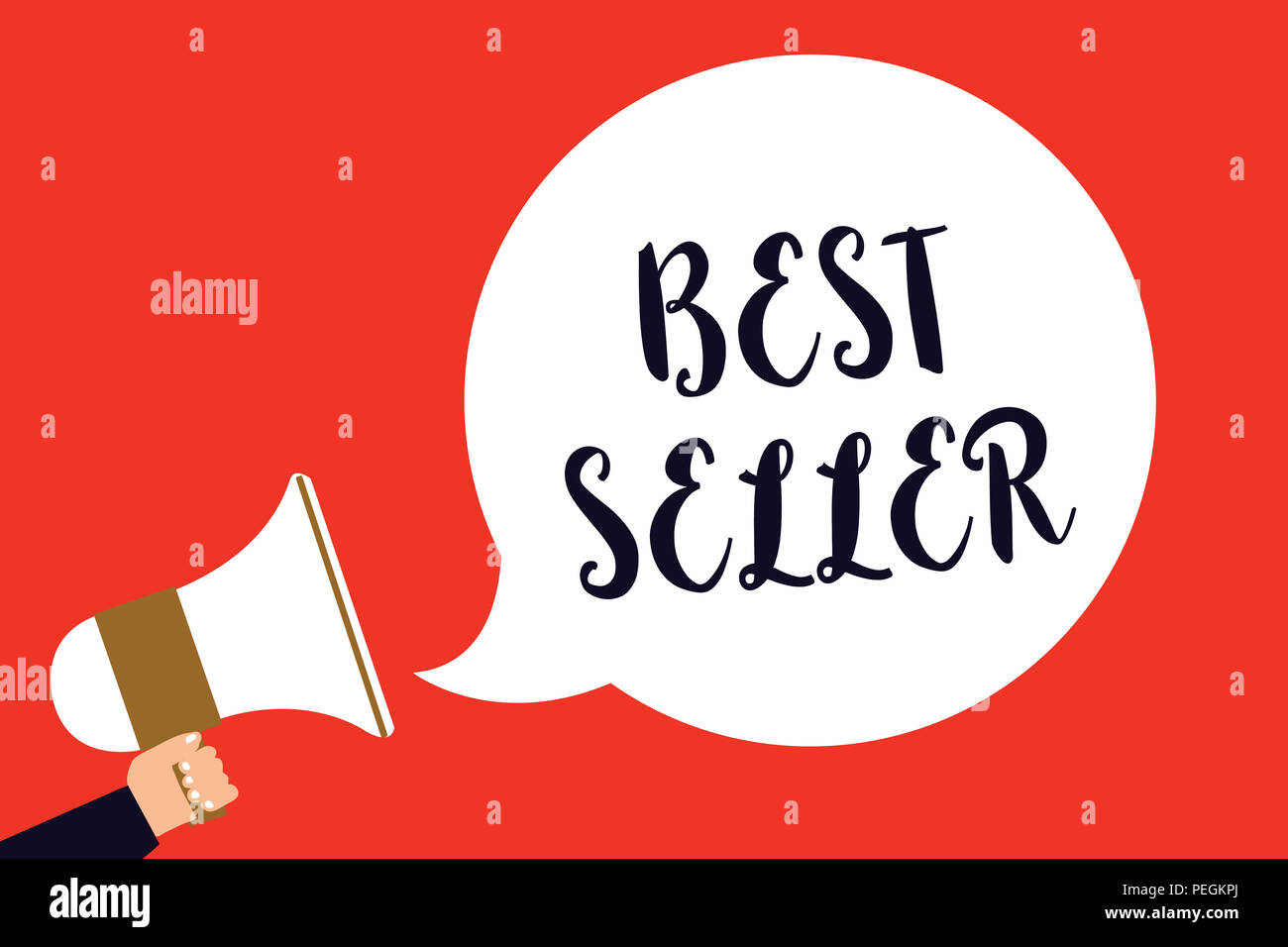 Handwriting Text Best Seller Concept Meaning Book Or Other Product