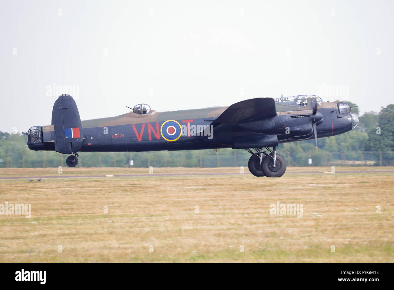 The only airworthy Avro Lancaster bomber in Europe at the RIAT 2018 at RAF Fairford, UK - Stock Image