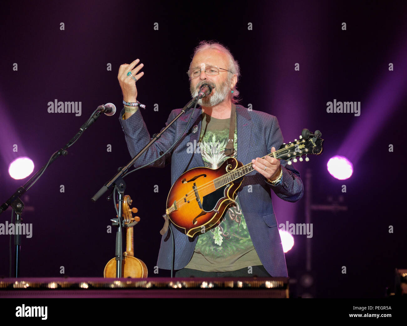 Fairport Convention performing at Fairport's Cropredy Convention, England, UK. August 11, 2018 - Stock Image