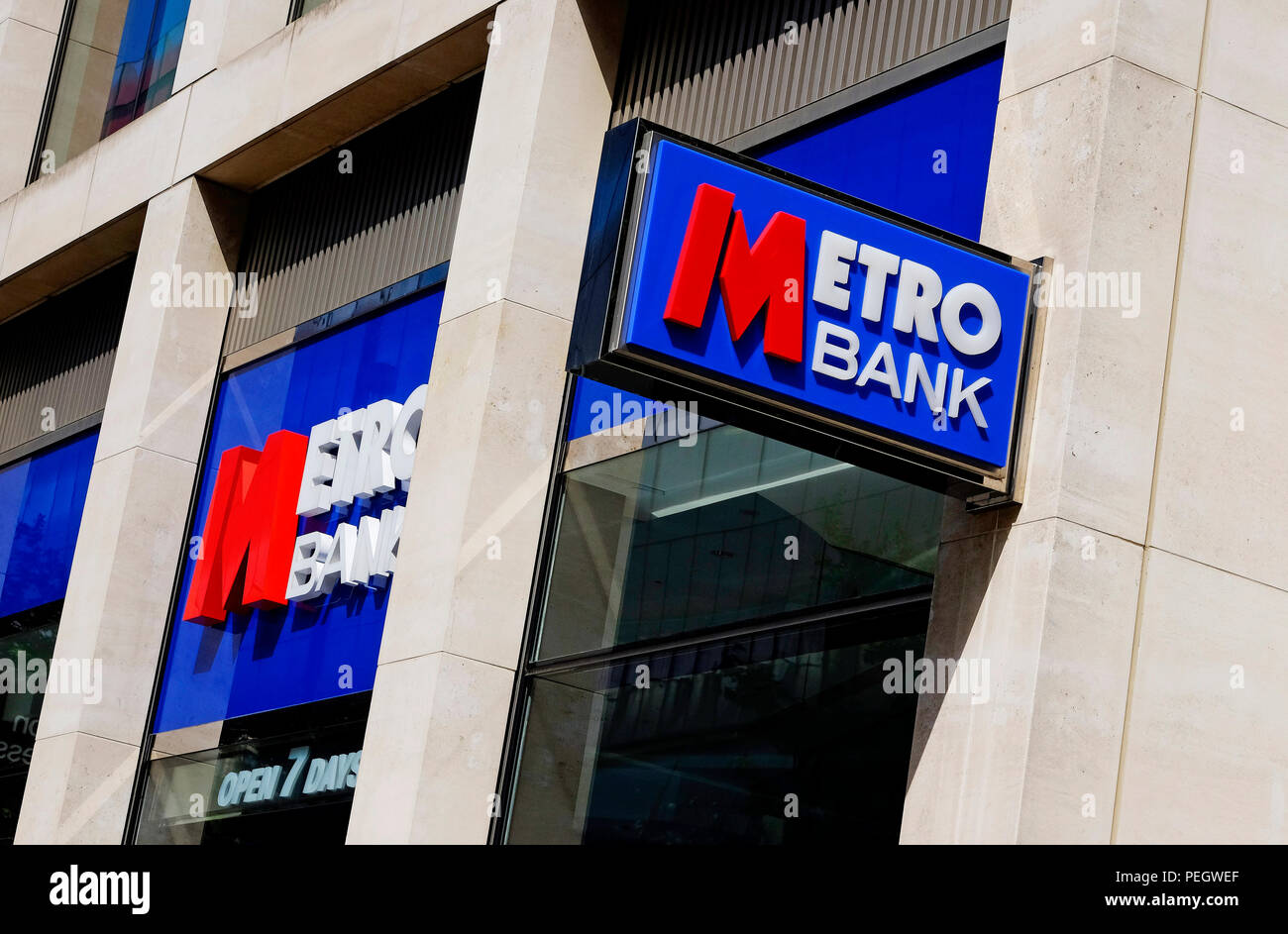 metro bank, london city centre, england - Stock Image