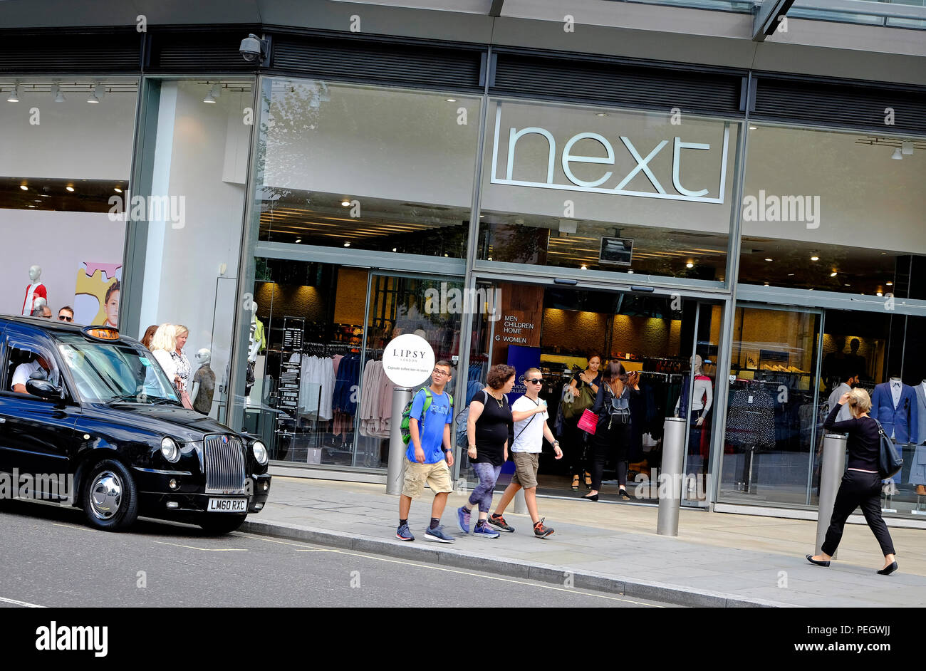 next retail store, one new change, london, england - Stock Image
