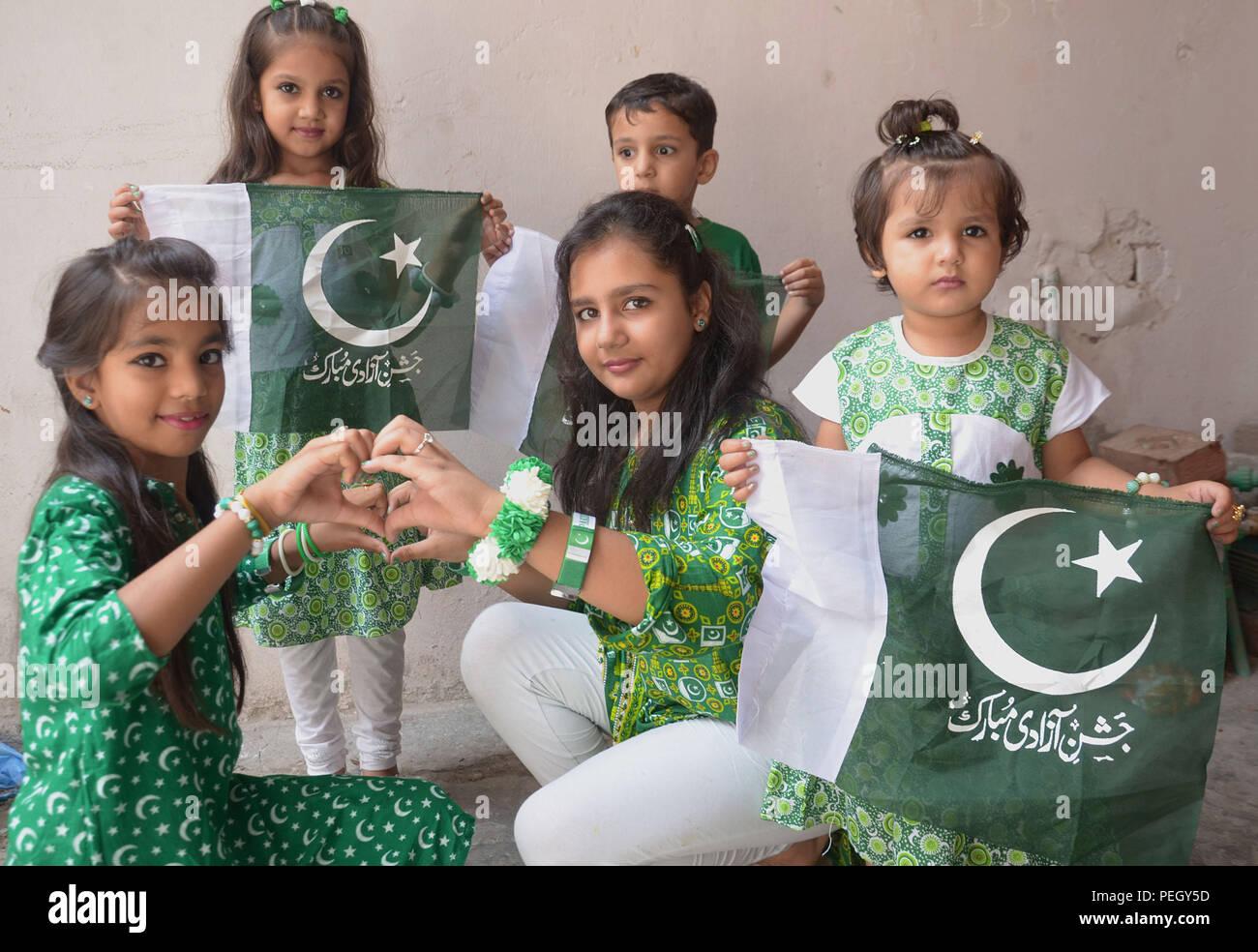 Lahore, Pakistan  14th Aug, 2018  Pakistani people