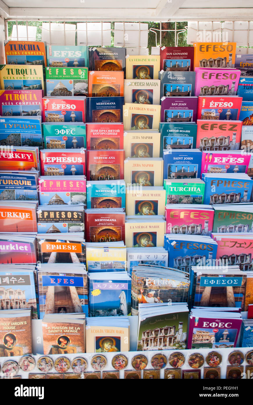 guide books in various languages - Stock Image