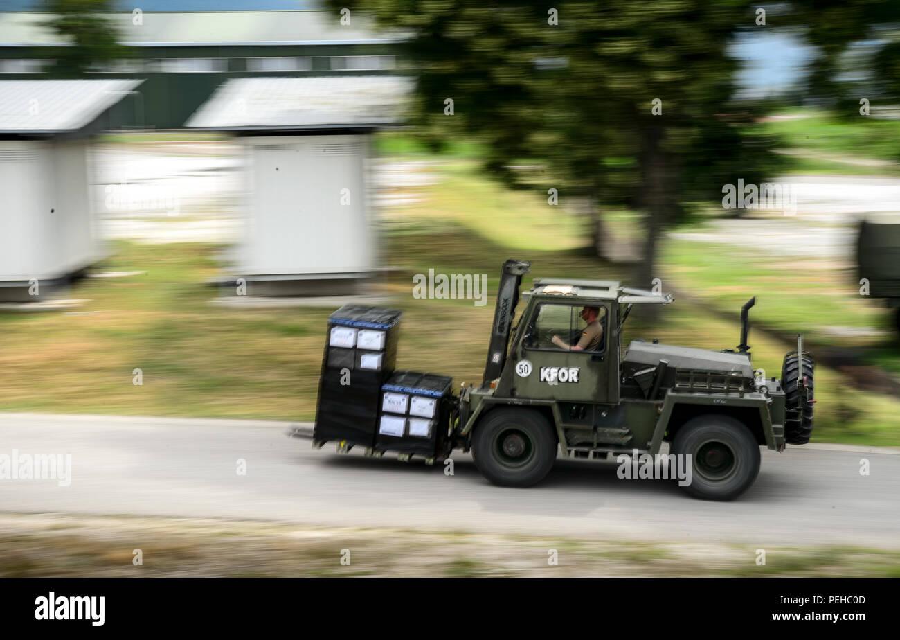 Kosovo, Prizren  18th July, 2018  A wagon transports