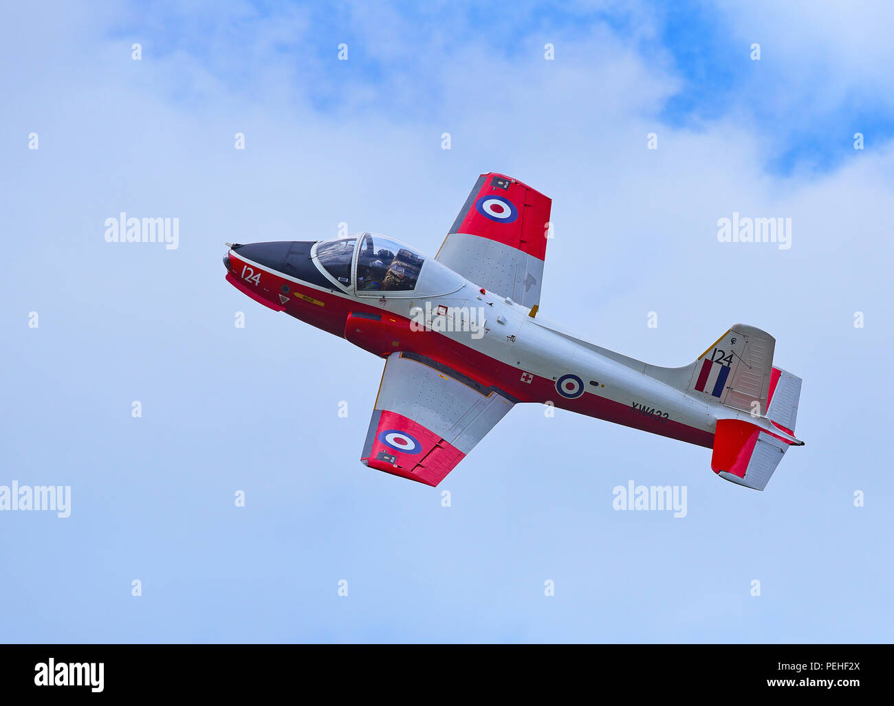 EX Military Jet Provost pilot trainer aircraft based at Inverness Airport available for flights up to an hour for fee paying passengers. - Stock Image
