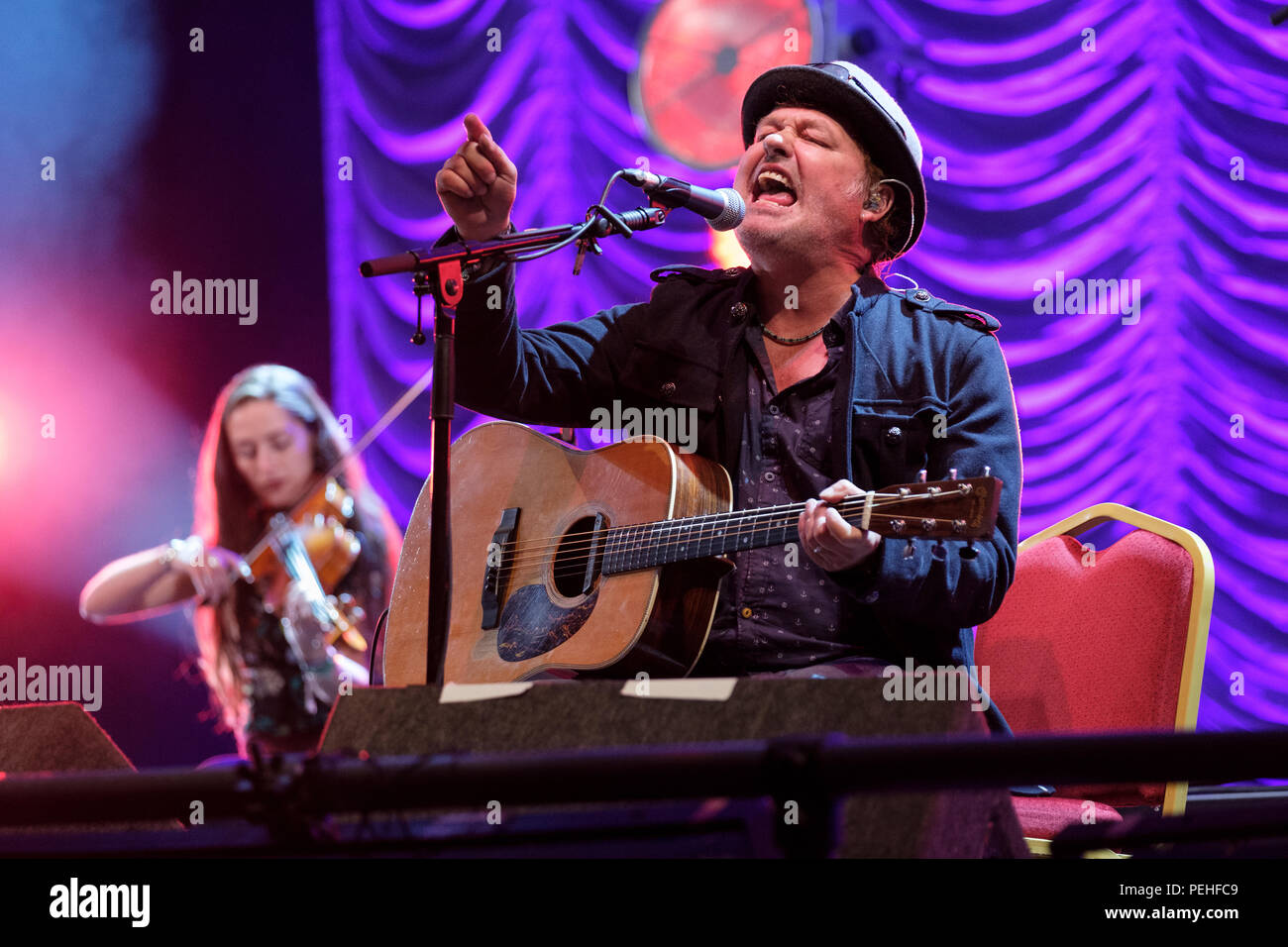 The Levellers performing at Fairport's Cropredy Convention, England, UK. August 10, 2018 - Stock Image
