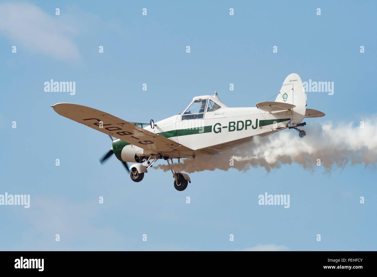 Swift Aerobatic Display Team (G-BDPJ) | Piper PA-25 at Southport Air Show - Stock Image