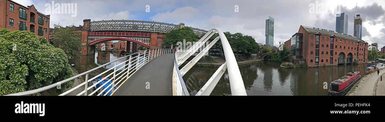 Merchants Bridge,Castlefield, Manchester, North West England, UK, M3 4LZ - Stock Image