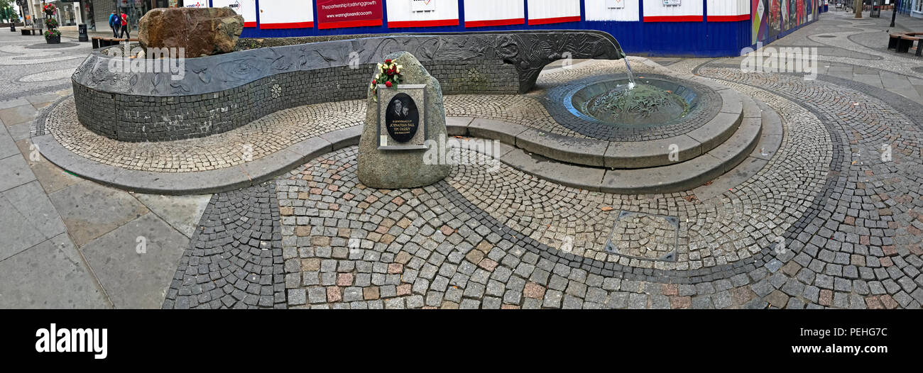 The River of Life memorial, Bridge St, Warrington, Cheshire, North West England, UK - Stock Image