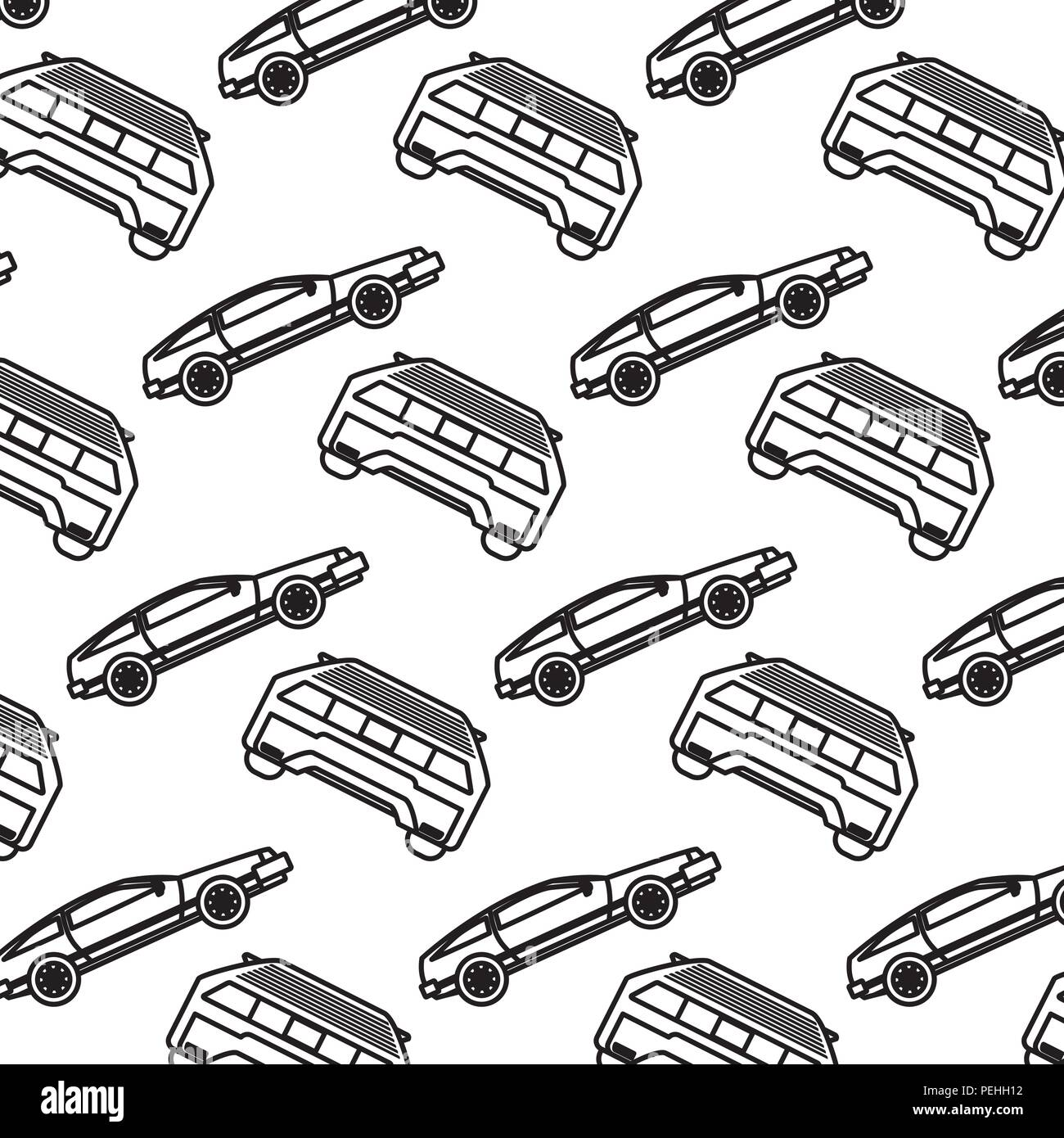 line luxury car transport style background - Stock Vector