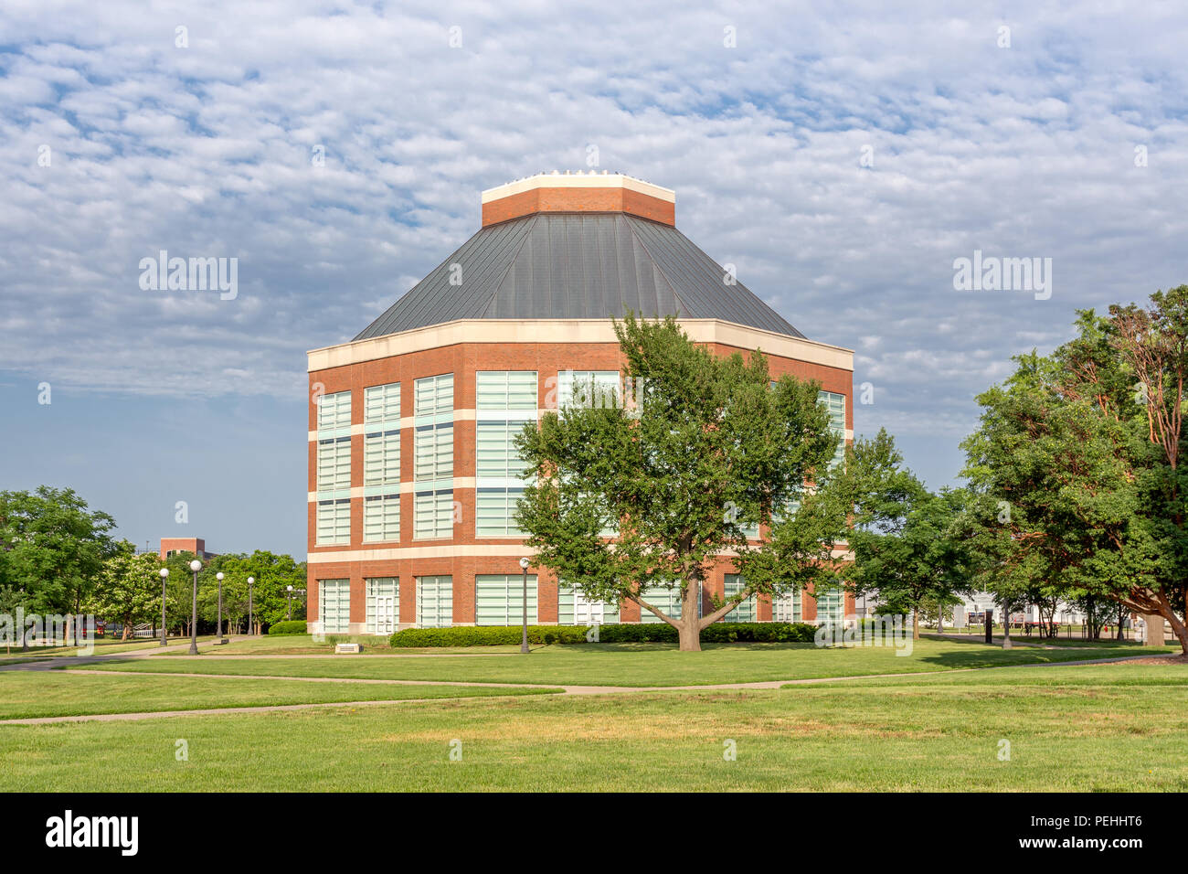 URBANA, IL/USA - JUNE 2, 2018: ACES Library and Alumni Center on the campus of the University of Illinois at Urbana–Champaign. - Stock Image