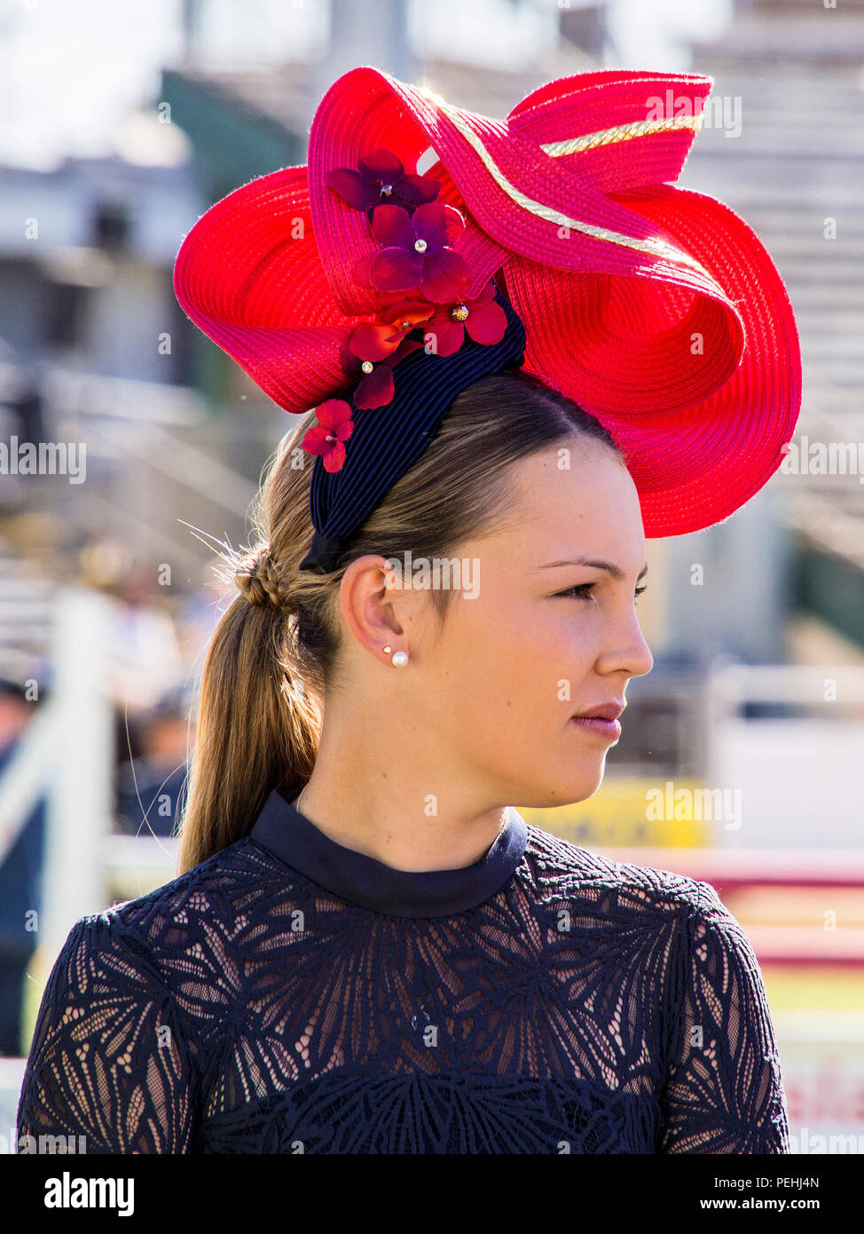 Ladies Day at Ekka Agricultural show Brisbane - Stock Image