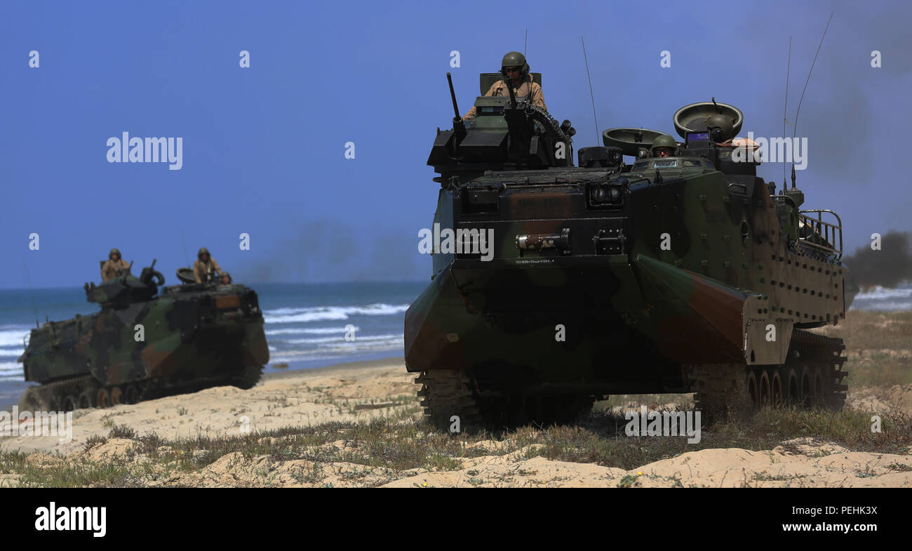 Marines With Company A 3d Assault Amphibian Battalion 1st Marine