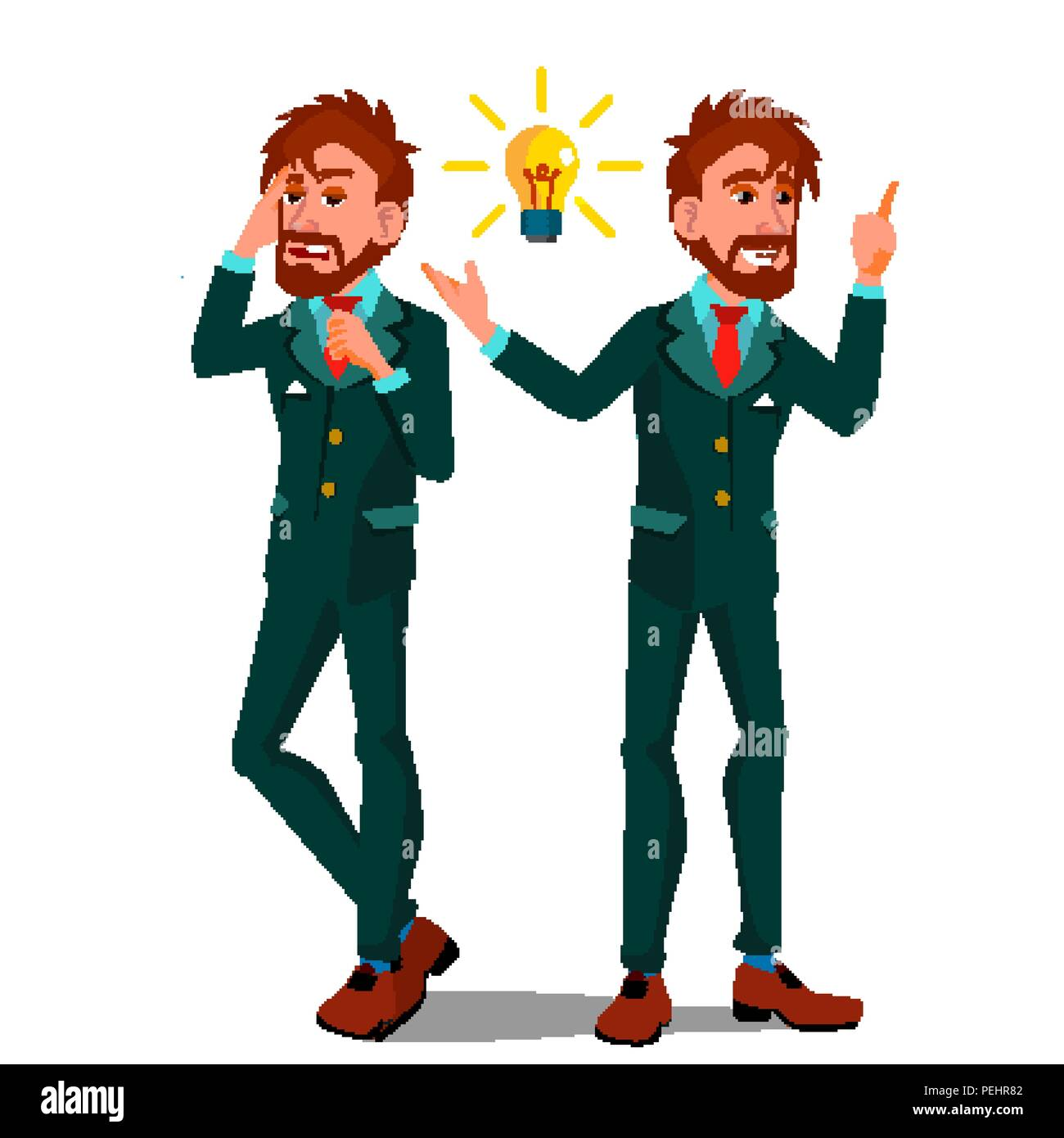 Solution Concept Vector Businessman Solution Of The
