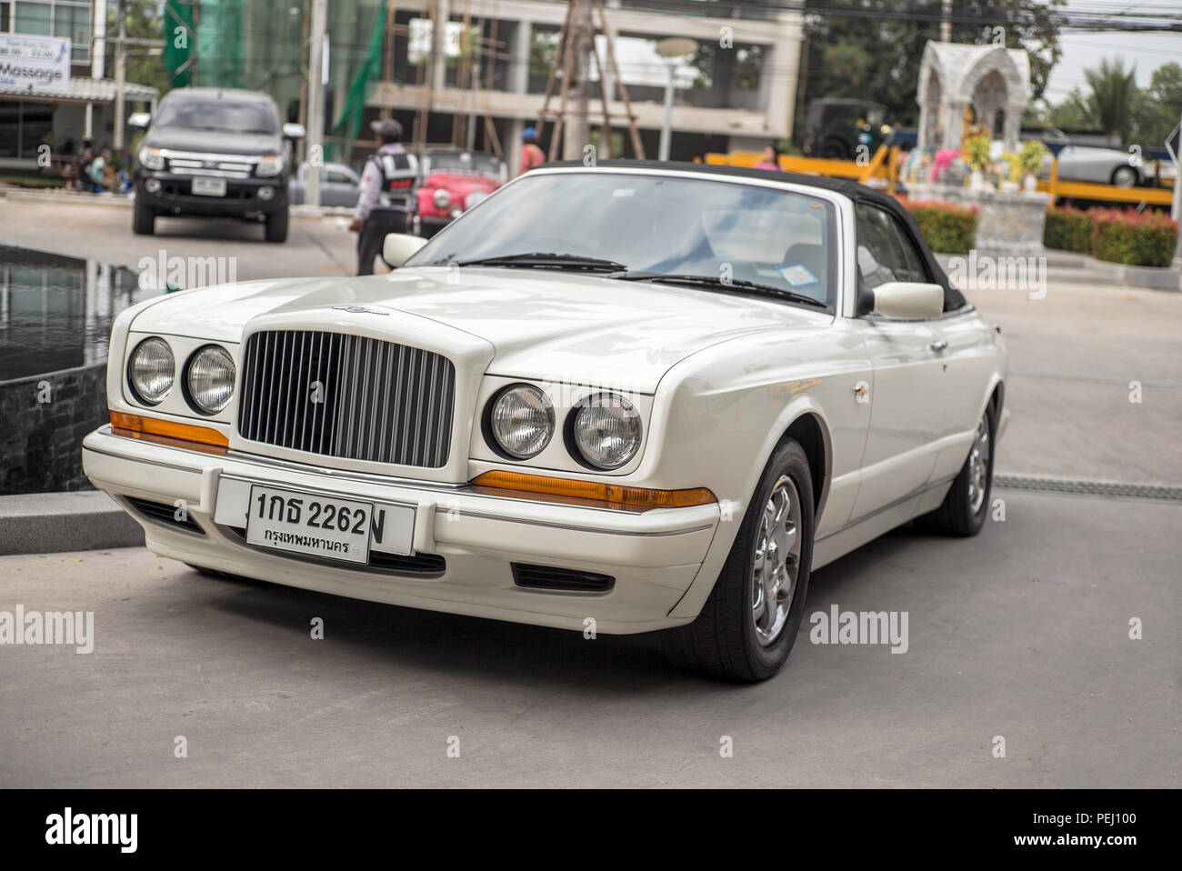 Bentley Azure luxury limousine UK car with Thailand number plate - Stock Image