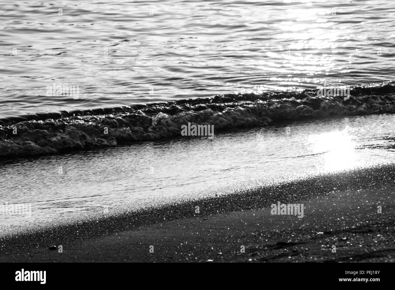 Greek Summer at Saronida beach - Stock Image