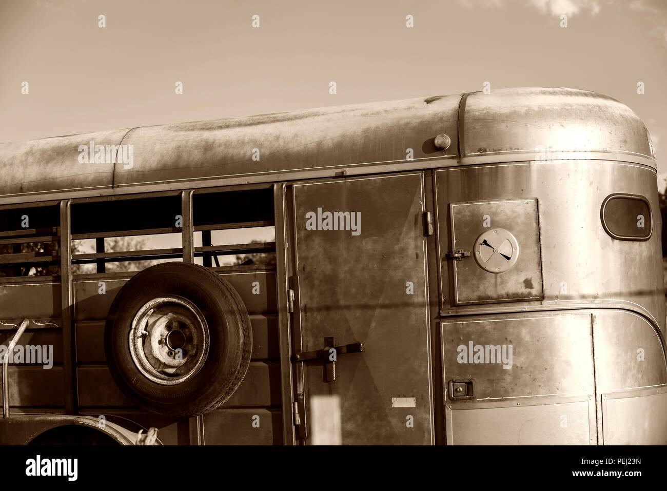 Horse trailer - Stock Image