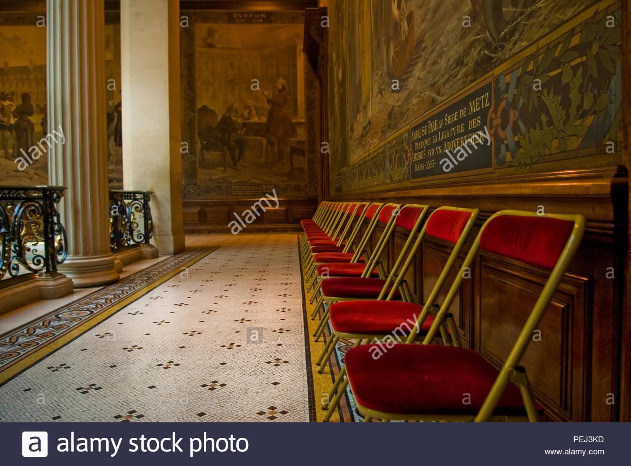 VISITORS CHAIRS, LA SORBONNE, PARIS - Stock Image