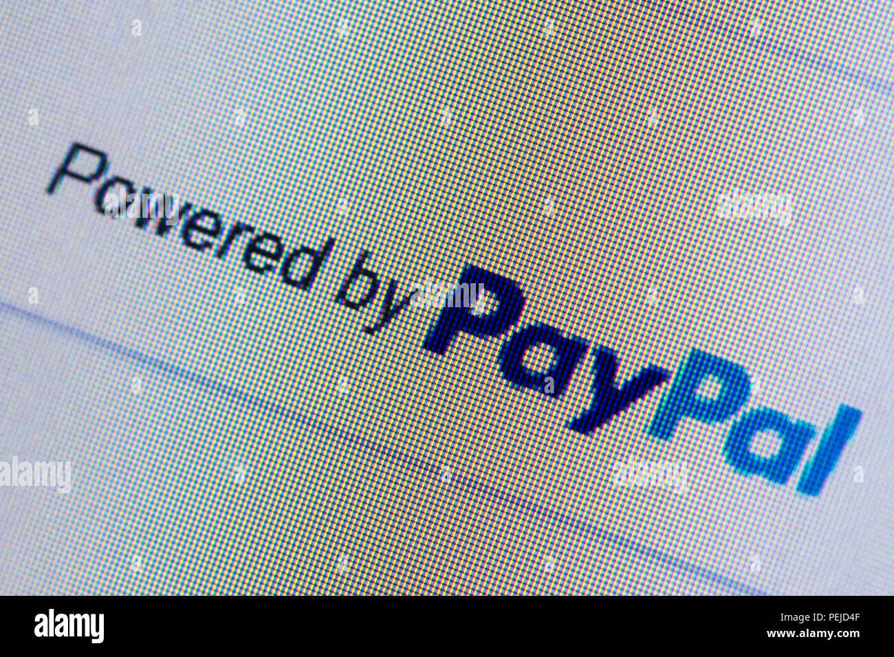 PayPal website - computer screenshot and logo - Stock Image