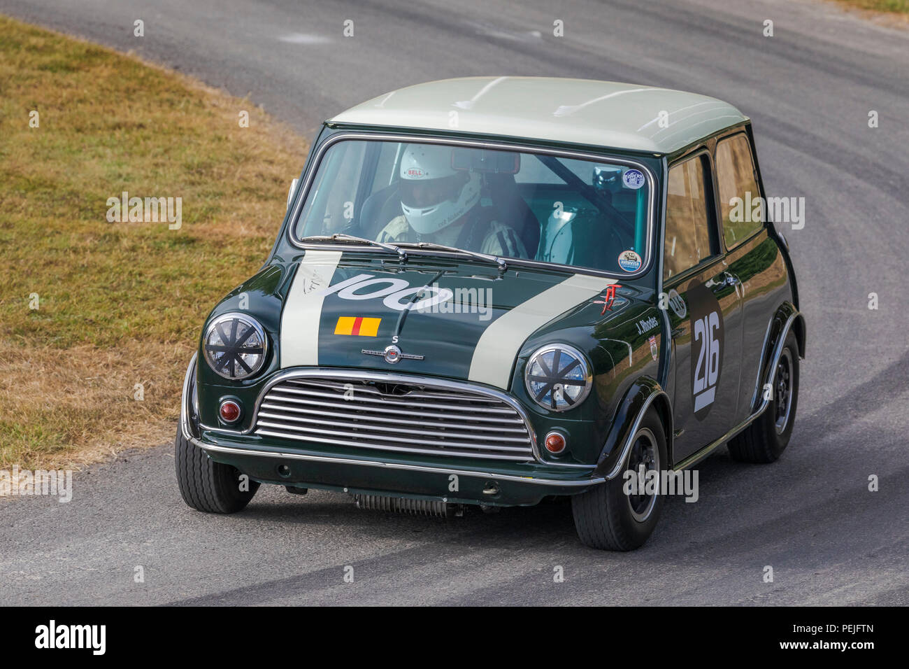 1965 Morris Mini Cooper Bscc Racer With Driver Charles Rainford At