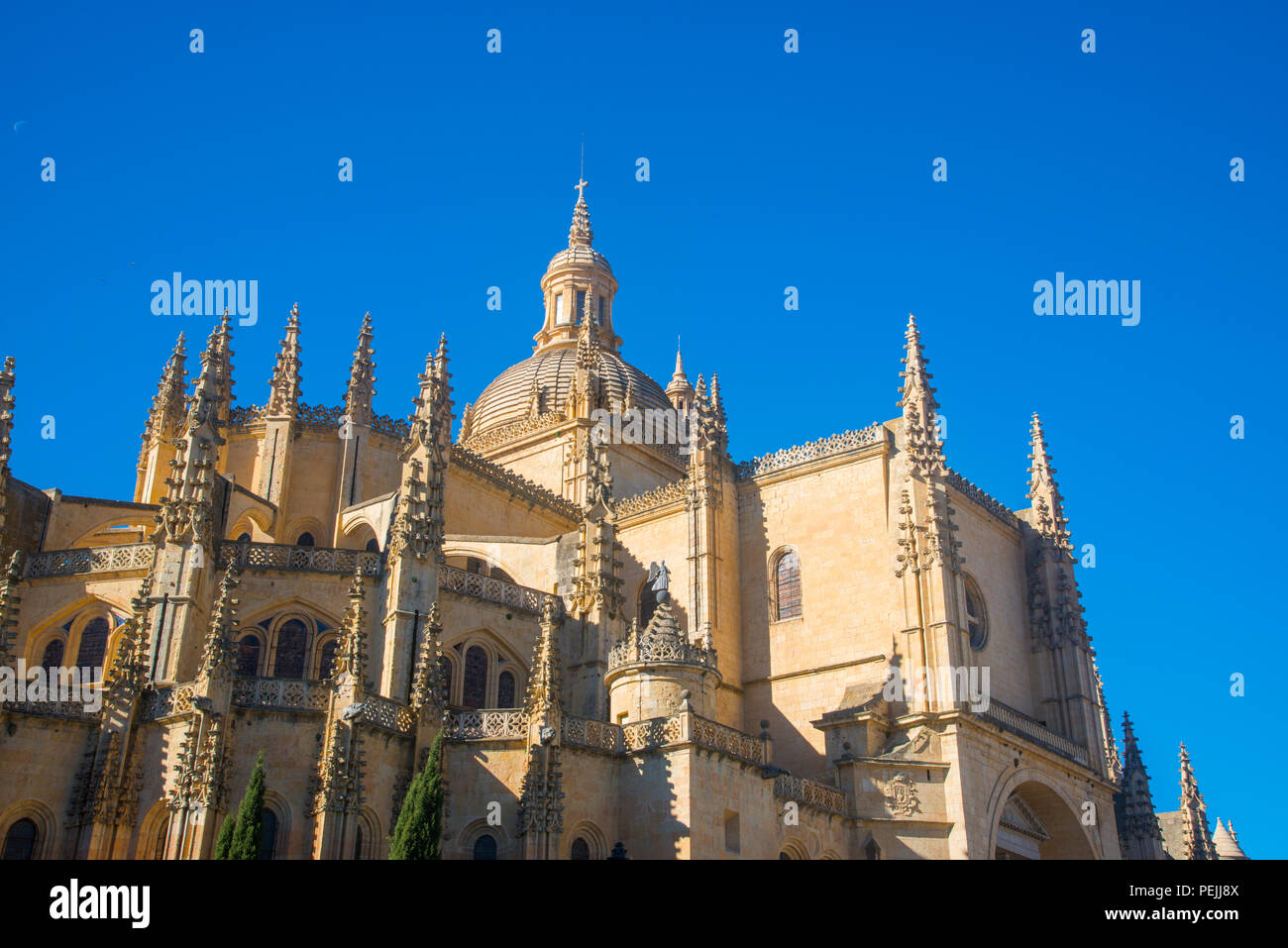 Apse of the Gothic cathedral. Segovia, Spain. - Stock Image