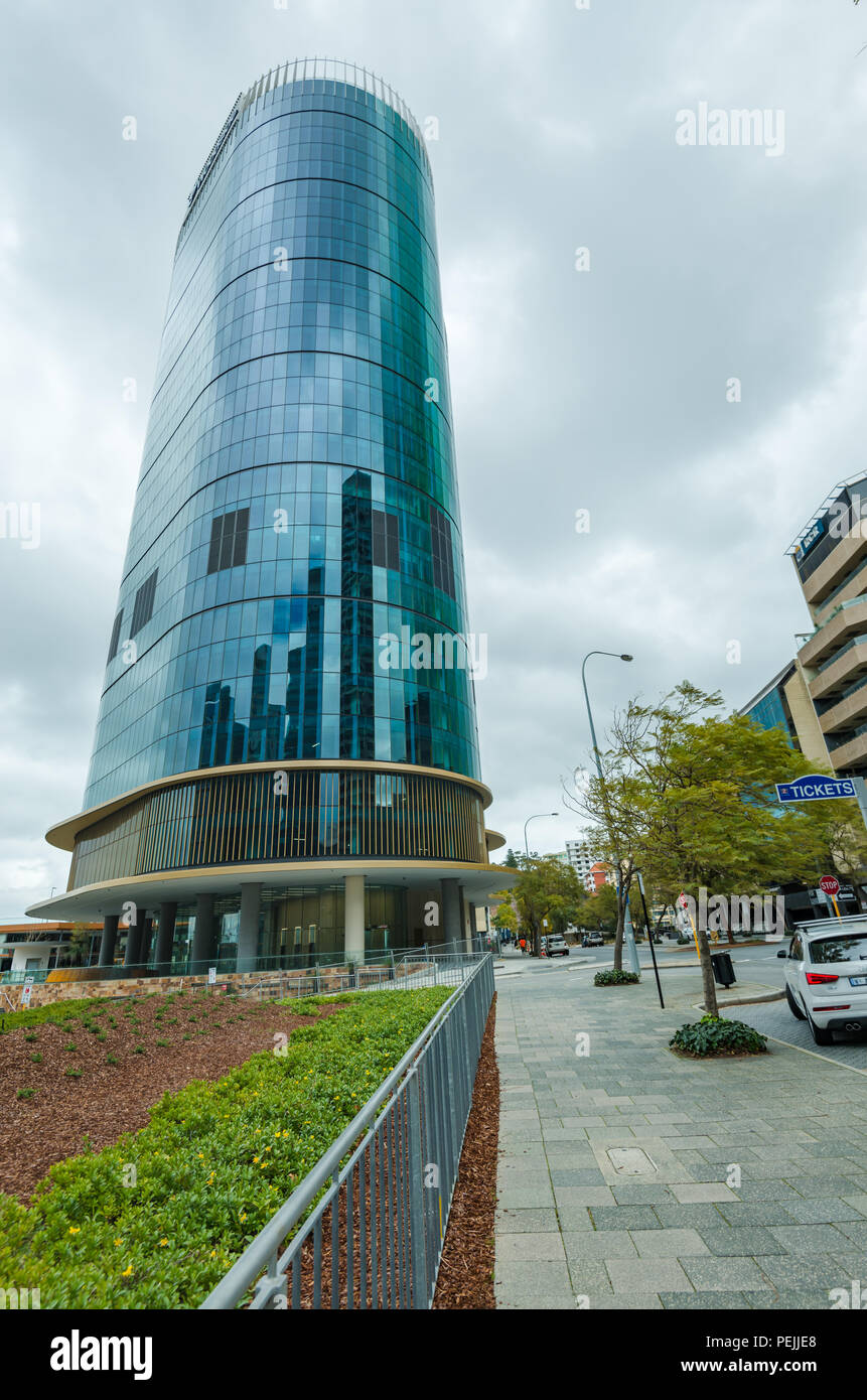 Capital Square, Buildings in Downtown Perth, Western Australia, Oceania - Stock Image