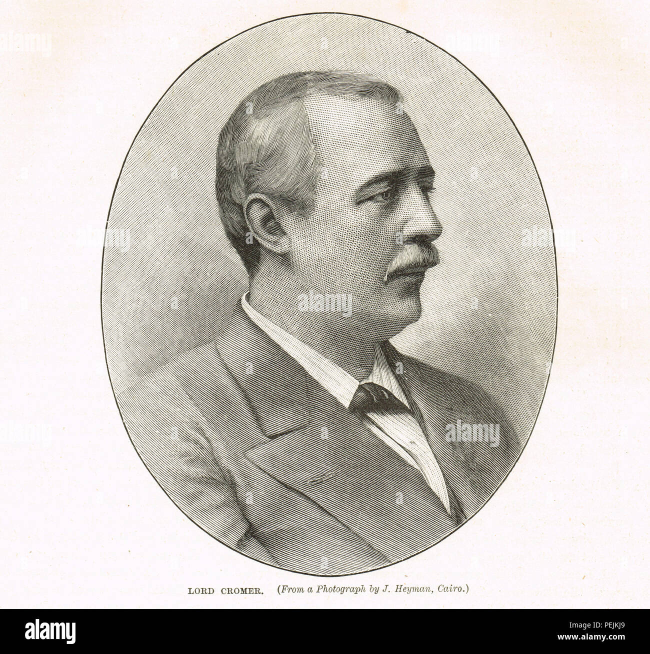 Evelyn Baring, 1st Earl of Cromer, British statesman, diplomat and colonial administrator, consul-general in Egypt from 1883 to 1907, during the British occupation prompted by the 'Urabi revolt - Stock Image
