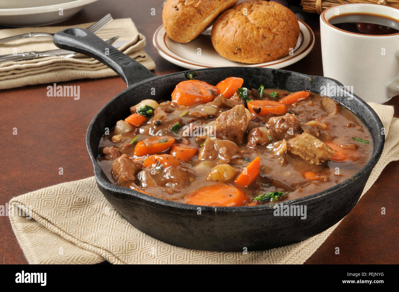 Gourmet Beef Stew Bourguignon With Carrots Pearl Onions And Burgundy Wine Sauce Stock Photo Alamy