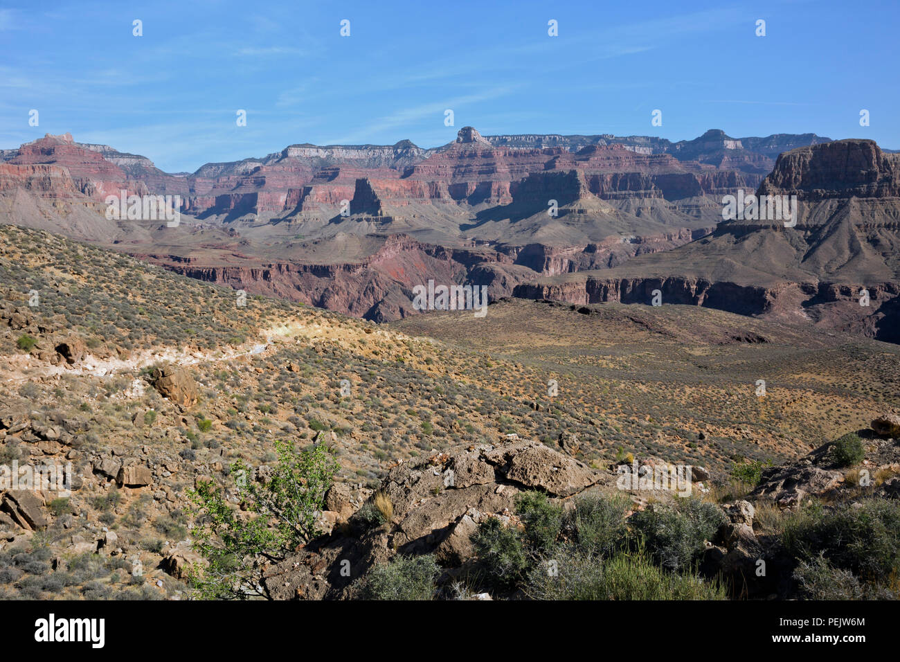 AZ00284-00...ARIZONA - The South Kaibab Trail below Skeleton Point and above the Tonto Trail intersection  in Grand Canyon National Park. - Stock Image