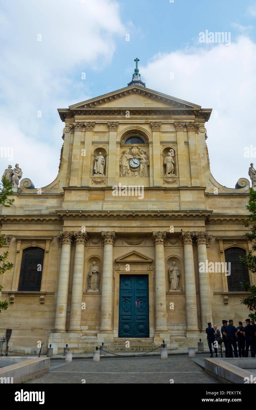 Chapelle de la Sorbonne, Place de la Sorbonne, Sorbonne district, Paris, France - Stock Image