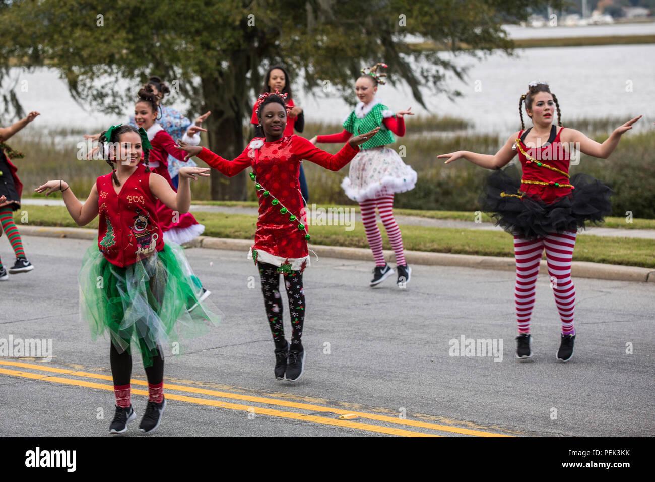 Beaufort Christmas Parade 2019 Dancers perform during the Beaufort Christmas Parade Dec. 6