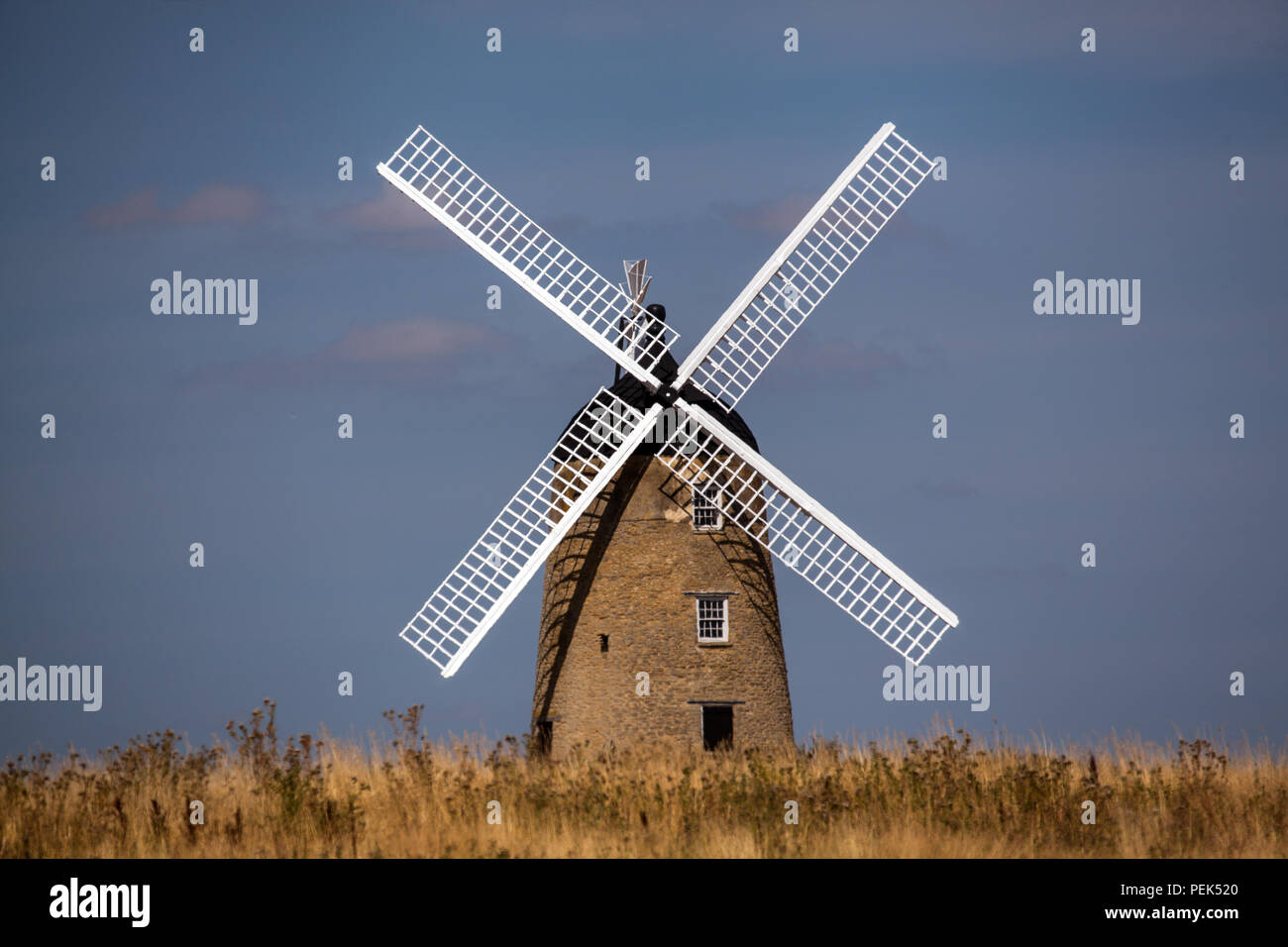 250 year old restored and renovated Windmill between Great Haseley and Great Milton in South Oxfordshire one of Britain's largest and finest mills - Stock Image