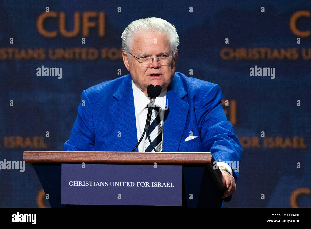 Pastor John Hagee, CUFI founder and Chairman, speaking at