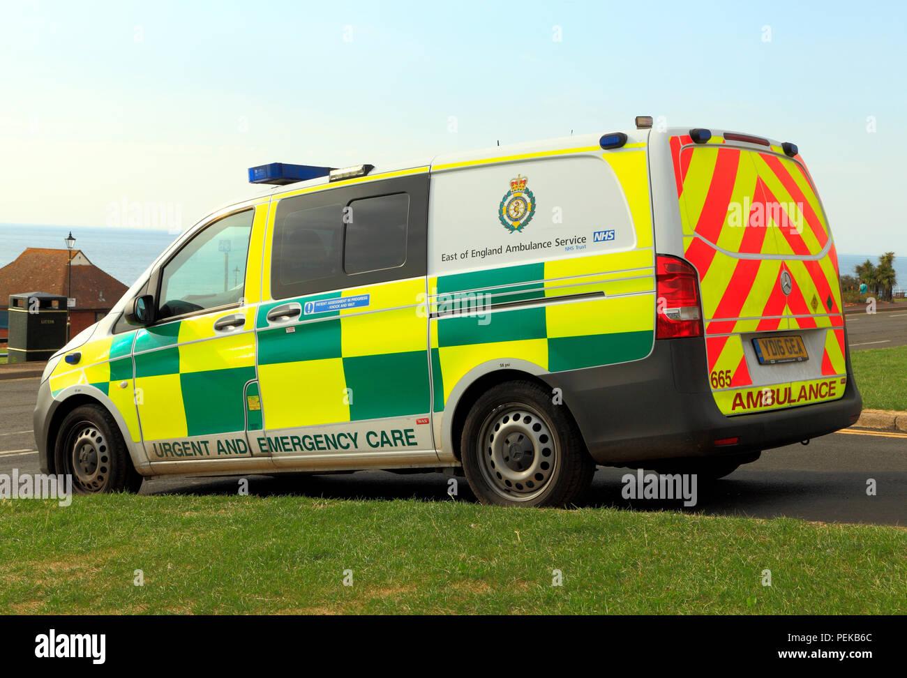 East of England, Ambulance, Service, Urgent and Emergency Care, vehicle, ambulances, regional, Stock Photo