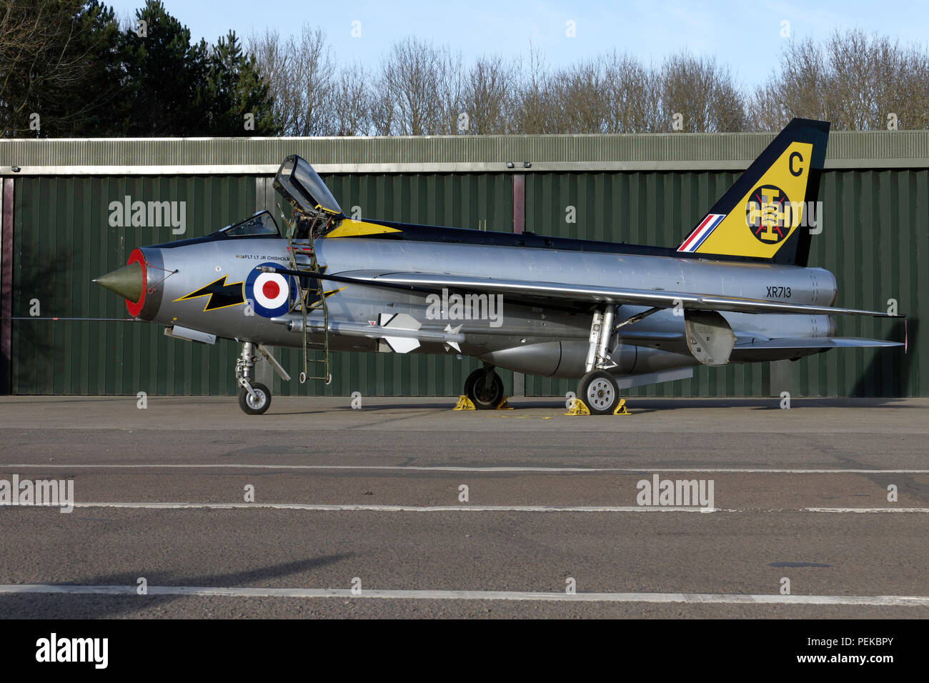 English Electric Lightning F3 in RAF 111 Squadron markings - Stock Image