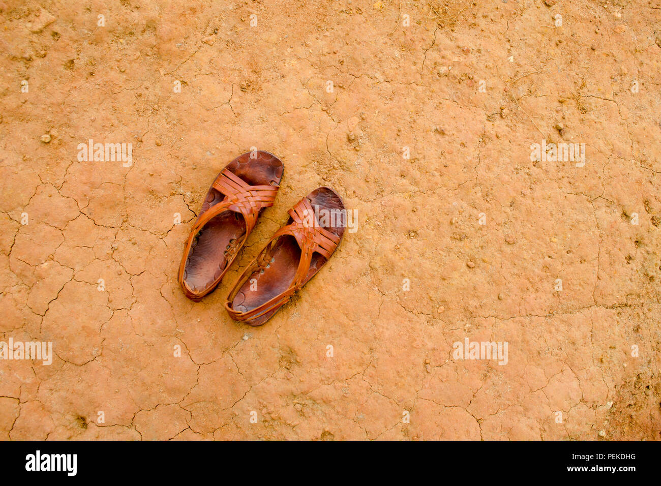 Traditional panamanian shoes - Stock Image